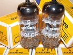 Brand Spanking New, MINT NOS NIB 1960s Siemens & Halske 3-MICA E81CC tubes. These are premium version of ECC81/12AT7 Type tubes. Munich production date codes etched in small dark font in style of the early Siemens production. Made in West Germany.